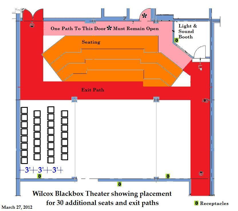 Adding extra seating to theater chart