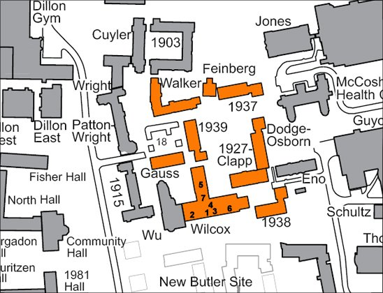 map of first college
