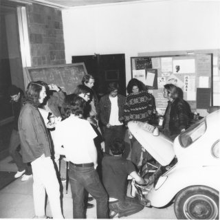 Auto repair class in early Wilson College